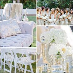 Luxuriously elegant wedding by Florals by the Sea. Luxe bling!