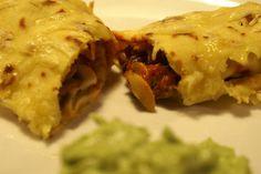 Vegetarian mexican enchiladas!