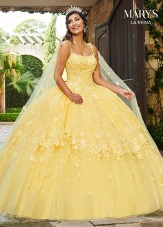 Quince Dresses, Ball Dresses, Bridal Dresses, Ball Gowns, Yellow Wedding Dresses, Xv Dresses, Yellow Gown, Formal Dresses, Sweet 15 Dresses