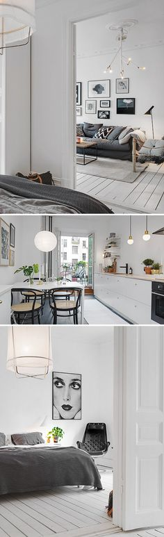 White Monochrome Style Styling Home House Interior Clean Fresh Scandi Basic Decor Trend Design Stylist Home Design, Home Interior Design, Interior Architecture, Interior Decorating, Condo Design, Gray Interior, Design Bedroom, Kitchen Interior, Interior Ideas
