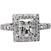 Cannes Square-cut Halo Engagement Ring: Cannes,Riviera,Halo,engagement ring,engagement rings,diamond engagement rings
