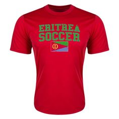Eritrea Soccer Training T-Shirt (Red)