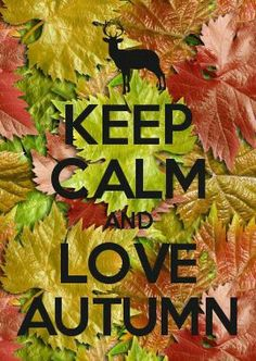 KEEP CALM...Autumn is almost here if u live in south Texas u can't wait for a cool down we're melting lol JC HUMANS
