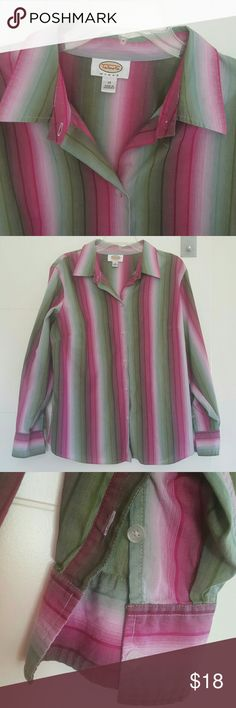 sz 1X Talbot's Top 100% cotton  50 bust  23 sleeve  27 length Talbots Tops