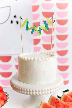 Tiny White Cake and Garland