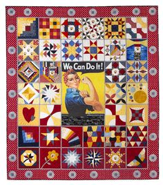 Excited to share with you my 'Rosie' quilt. Remember Rosie the Riveter? If you're not familiar with this poster, 'Rosie' was an iconic image...