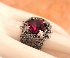Stunning Vintage Garnet Jewel and Silver by LoreleiDesigns on Etsy, $49.00