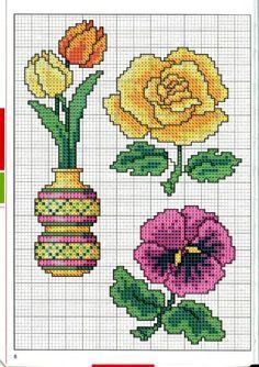 Gallery.ru / Фото #8 - Вышиваем крестом цветы, букеты, деревья - tymannost