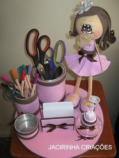 kit escritorio con fofucha