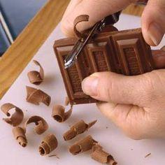 Chocolate garnish