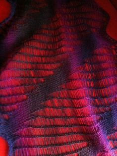 Inspiration with this drop stitch patterning by Knit Lab  http://knitlab.wordpress.com/About/