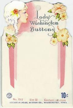 Printable Button Card