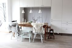 Dining table. My Scandinavian Home blog