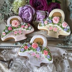 Baskets of roses