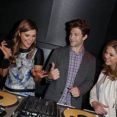 Sasha and Keegan at the InsidiousMovie Chapter 3 trailer premiere playing some tunes for the party! | Pretty Little Liars