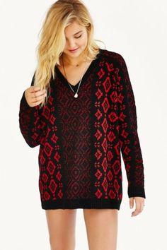 Ecote Jenna Patterned Sweater