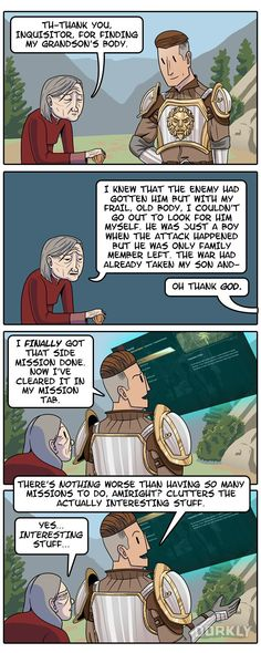 """""""The Truth About Side Quests"""" #dorkly #geek #RPG"""