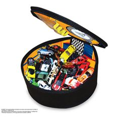 $19.99 - Don?t touch. It?s HOT!- Hot Wheels ZipBin Wheelie Track Pack is a mag wheel with a lenticular Hot Wheels rim (that makes it 3D).- It unzips from the mag wheel to a racing track with illustrated hazards.- Includes pockets for your 6 favorite cars, but easily holds 50 cars.- Includes an authentic Hot Wheels car.- Ideal for portable play.SEE SOME MORE HOT-WHEELS!