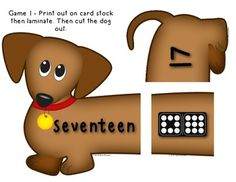 Number Dogs - 3 Math Center Games - Ways to Show numbers 0-20, Adding, Subtracting, Tally marks...Super fun (Kindergarten and First Grade Math) $