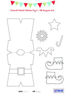Trimcraft Advent Calendar Day 9 - Elf Card Template