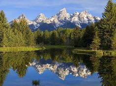 View of Grand Tetons from Yellowstone National Park, Wyoming