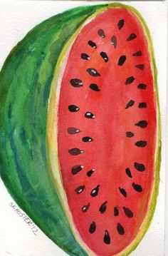 Watermelon Watercolor Painting