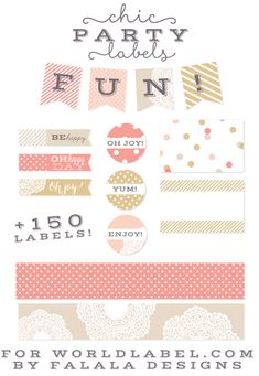 FREE printable chic party labels