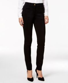 Style & Co Petite Utility-Pocket Skinny Pants, Only at Macy's - Black 10P
