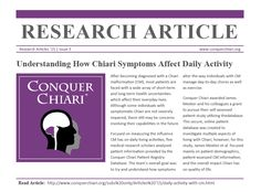 """March 2015 """"Understanding How Chiari Symptoms Affect Daily Activity"""""""