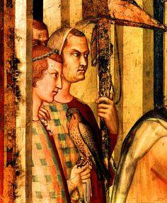 SIMONE MARTINI (1285 -1344) -  Saint Martin is Knighted,detail - 1312/17.  Fresco, 265 x 200 cm.  Cappella di San Martino, Lower Church, San Francesco, Assisi.