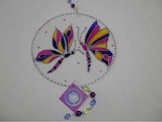 Mandala em vitral - borboleta - 35 cm - R$107.00
