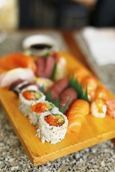Missing my weekly doze of sushi.