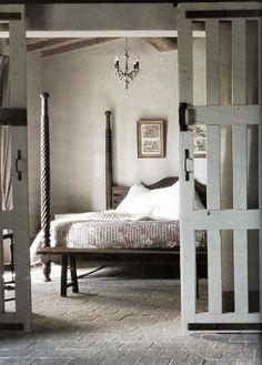 = sliding doors and neutral bedroom