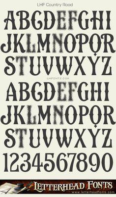 Letterhead Fonts / LHF Country Road font / Vintage Western Fonts