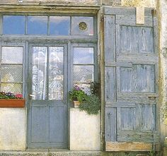 Décor de Provence: French Country Details- Doors that made me stop in my imaginative stroll to appreciate.