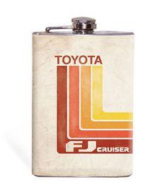Retro Toyota - FJC - 8oz Flask – Wicked Wheeler