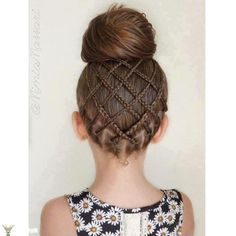 Fancy Little Girl Hairstyle with Braids..  20+ Fancy Little Girl Braids Hairstyle--> http://coolcreativity.com/fashion/20-fancy-little-girl-braids-hairstyle/  #Girl #Hairstyle #Braids