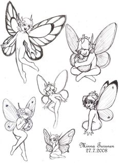 Simple fairy sketches.