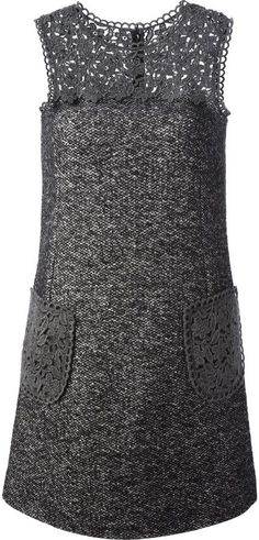 Shop for Dolce & Gabbana lace panel tweed dress at ShopStyle. Look Fashion, Fashion Details, Winter Fashion, Womens Fashion, Fashion Design, Tweed Dress, Lace Dress, Mode Hijab, Dolce & Gabbana