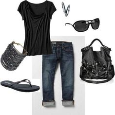 Casual Outfit casual comfy Very fab on the go although I& replace the jeans for leggings due 2 the fact I refuse to wear jeans lol Fashion Moda, Look Fashion, Fashion Outfits, Womens Fashion, Spring Summer Fashion, Spring Outfits, Mode Jeans, Look Girl, Looks Plus Size