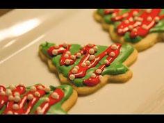 Galletas de Arbolitos de Navidad Decoradas