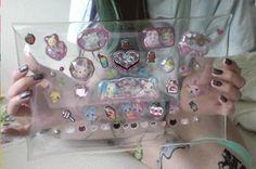 Clear sticker covered purse... cute!