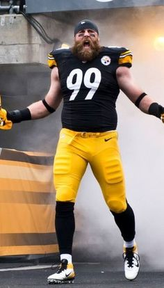 Brett Keisel - in the manner in which we know & love him best!!!