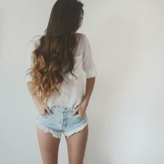 Weird shorts but the hair is super pretty!!!