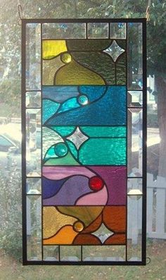 A Star Above Stained Glass Window Panel