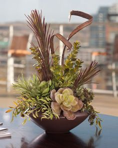 Succulent Centerpiece Ideas | Summer Silk Florals ~ No Green Thumb Required