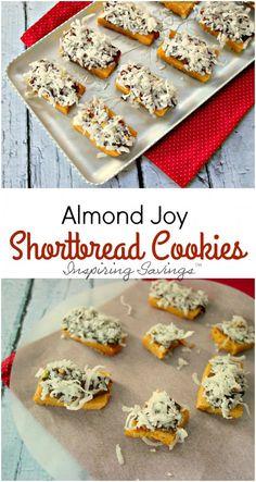 Homemade Almond Joy Shortbread Cookies - http://inspiringsavings.com/almond-joy-shortbread-cookies/