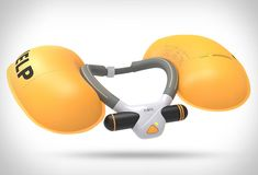 Ploota is the helmet for watersports, a revolutionary neck-worn device that blows up to save you in the ocean. The smart safety device automatically detects an emergency situation and releases two inflatable cushions to bring its user up to the surfa Electronic Workbench, Logos Retro, 3d Modelle, Water Safety, Wall Outlets, Search And Rescue, Electronics Gadgets, Self Defense, Cool Gadgets