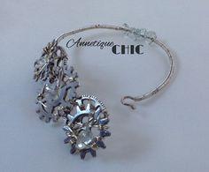Silver Steampunk Style Wire Bracelet