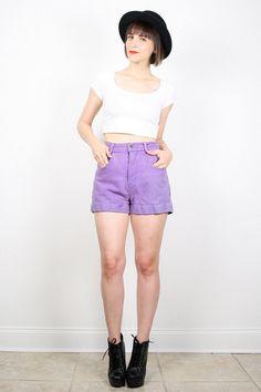 Vintage High Waisted Shorts 1980s Purple Denim Shorts 80s Shorts ESPRIT Jean Shorts Textured Chambray Cotton Shorts Cut Offs S M Medium #vintage #etsy #80s #1980s #esprit #jean #shorts #denim #highwaisted